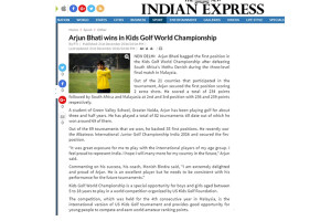 Arjun Bhati in International Golf Championship